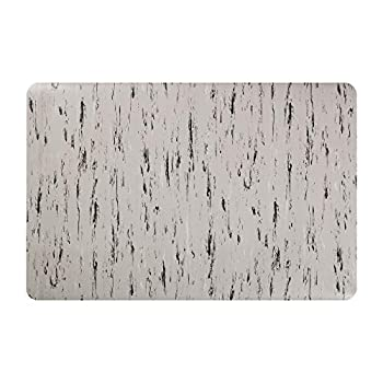 Image of Deflecto Marbletop Anti-Fatigue Comfort Standing Floor Mat, Vinyl, Recycled Materials, 1/2', Rectangle, Beveled Edge, 36' x 60', Gray Chair Mats