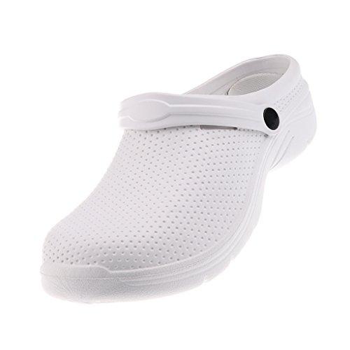 Zueco para Profesionales Deporte Zapatillas de Hombres Unisex Antideslizantes Prettyia Eva Blanco q8BRPww