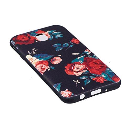 Funda para Samsung Galaxy J7 2017 SM-J730 (Sólo se aplica a la versión europea) , IJIA Corgi Adorable (Kiss My ASS) TPU Negro Silicona Suave Cover Tapa Caso Parachoques Carcasa Cubierta para Samsung G BF44