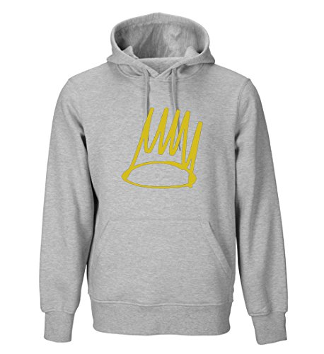 J Cole Crown Adult Hoodie (Black, Blue, Red, White, Green, Gray, Purple) (Small, Gray) (J Cole Forest Hills Drive Homecoming Full)