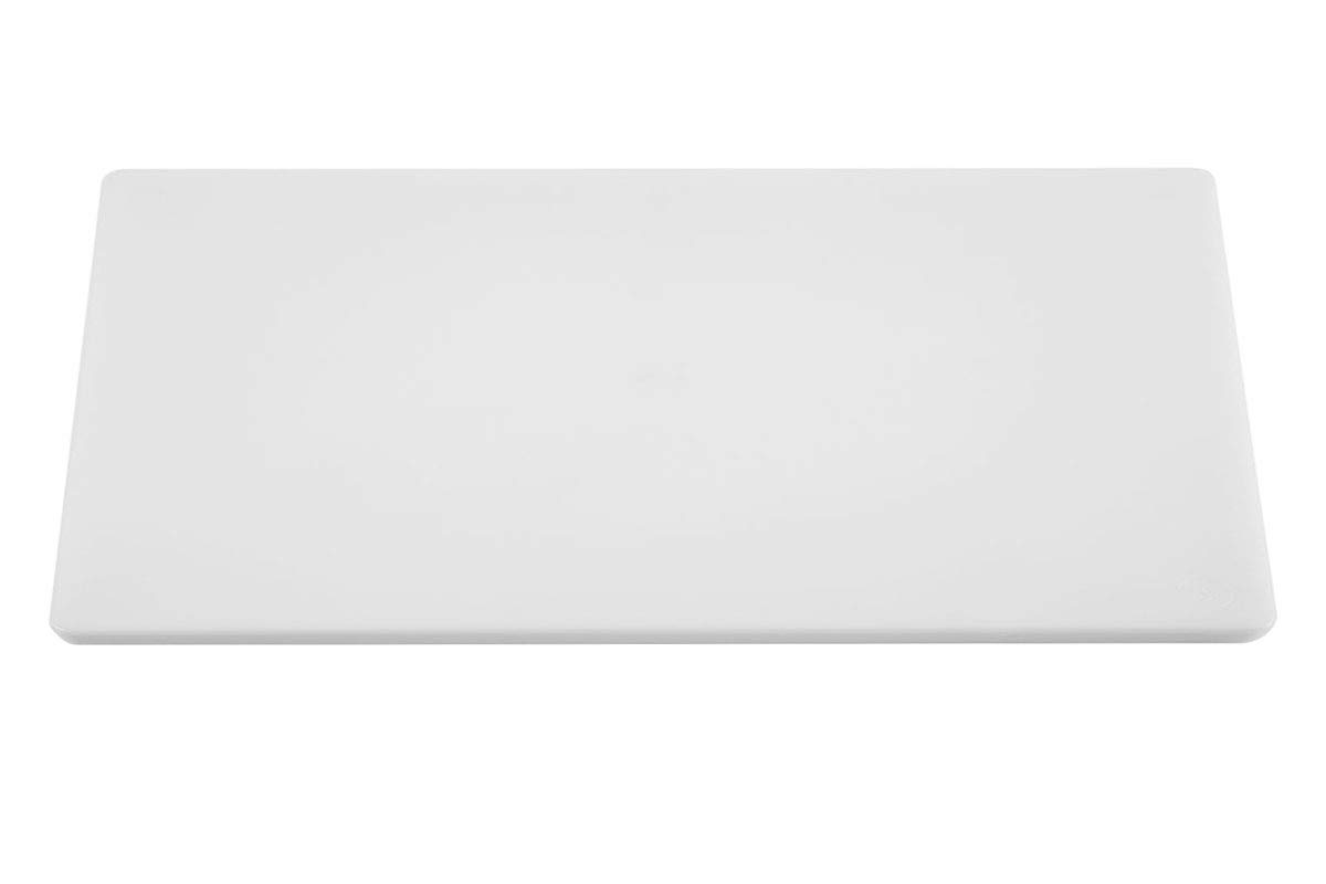 Poly Plastic Food Service Cutting Board, BPA Free, Dishwasher Safe (30 x 18 x 3/4, White)