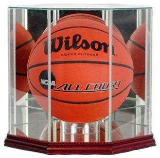 Perfect Cases NBA Octagon Basketball Glass Display Case, - Basketball Cherry