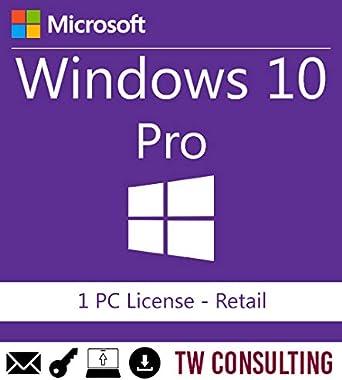 Oferta amazon: Windows 10 Professional Retail 1PC   Entrega electrónica de software Descarga versión completa de 32 y 64 bits + instrucciones de TW, Factura y garantía en España