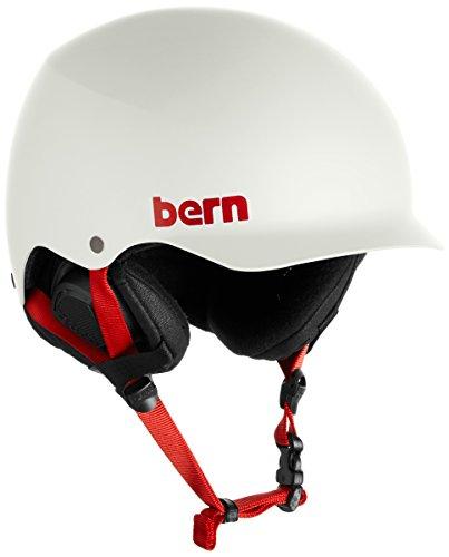 Bern Baker Audio (Bern Baker EPS Snow Helmet Satin Light Grey S/M)
