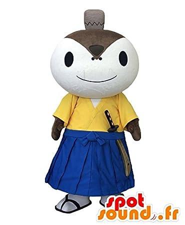 Amazon.com: hamoshiro Mascot. Blanco Ninja Mascot en ...