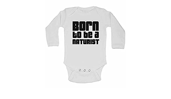 fe3f684c201e Amazon.com  Born to Be a Naturist - Personalised Long Sleeve Baby ...