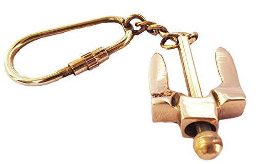 Brass Anchor Key Chain Nautical Marine Keychain Navy Maritime Key Tag Key Ring Gift