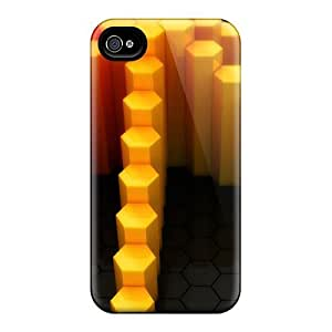 MeSusges Design High Quality Pyramid Of Fire Cover Case With Excellent Style For Iphone 4/4s