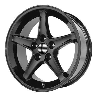 OE Creations | 102B-796524 | 17 Inch | Mustang Cobra R | PR102 Wheel/Rim | Black | 17x9 Inch | 5x4.5/5x114.30 | 24mm