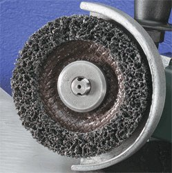 Maximum RPM: 10000 RPM Non-Woven or Deburring Wheel Wheel Diameter: 4-1//2 in United Abrasives 77230