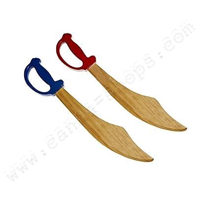 Épée de pirate ou Sabre en bois pour enfants - Rouge