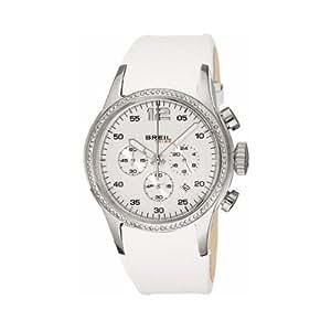 Breil TW0287 - Reloj analógico de mujer de cuarzo con correa de piel blanca