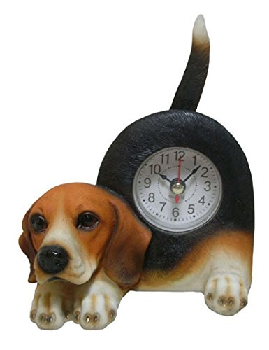 Wagging Table Clock - AIE GF74 Small Beagle 6