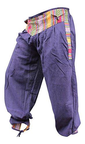 Mujer Festival Morado Shopoholic Borde Casual Boho Hippy Pantalones Retro Con Hombre Moderno Ropa qxZEFSwC
