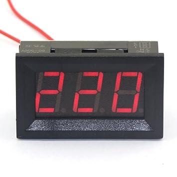 12V Digital LED Display Voltmeter Voltage Gauge Panel Meter Car Motocycle BBC