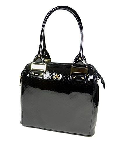 Borsa Anita - HoY Be chic - Nera vernice lucida fashion bag