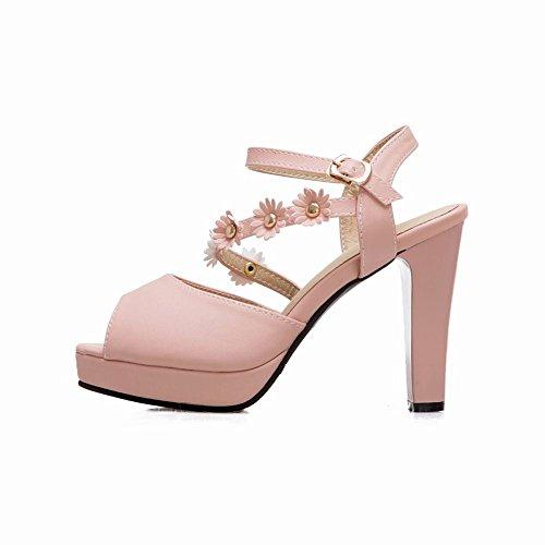 Mee Shoes Damen High Heels Peep Toe mit Blumen Pumps