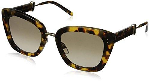 (Marc Jacobs Women's Marc131s Cateye Sunglasses, SPOTTED HAVANA/BROWN GRADIENT, 53 mm)