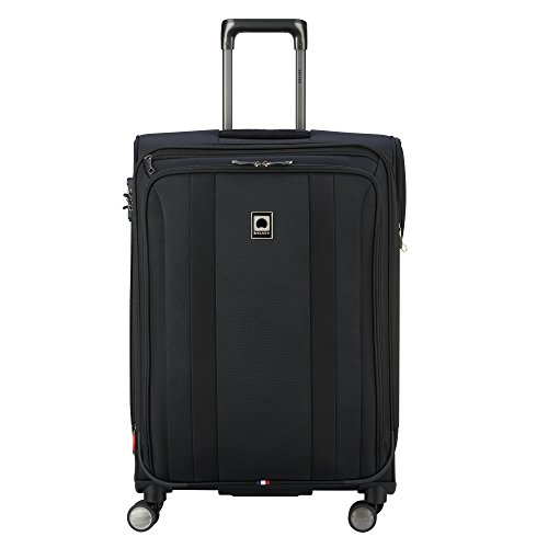 Delsey Luggage Titanium Soft Expandable 25 Inch Spinner, Black