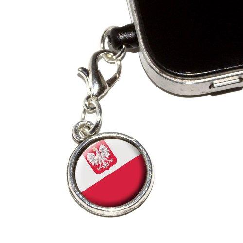 Gráficos y más Tapón Antipolvo de bandera de Polonia Polaco ajuste universal 3.5mm Earphone Auriculares con micrófono...