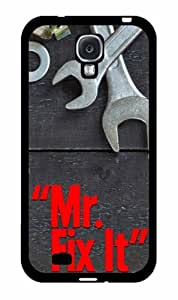 Mr. Fix It 2-Piece Dual Layer Phone Case Back Cover Samsung Galaxy S4 I9500