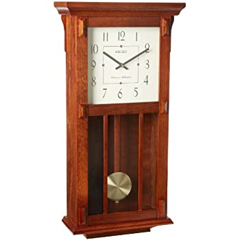 Amazon Com Seiko Mission Wooden Wall Clock With Chime And