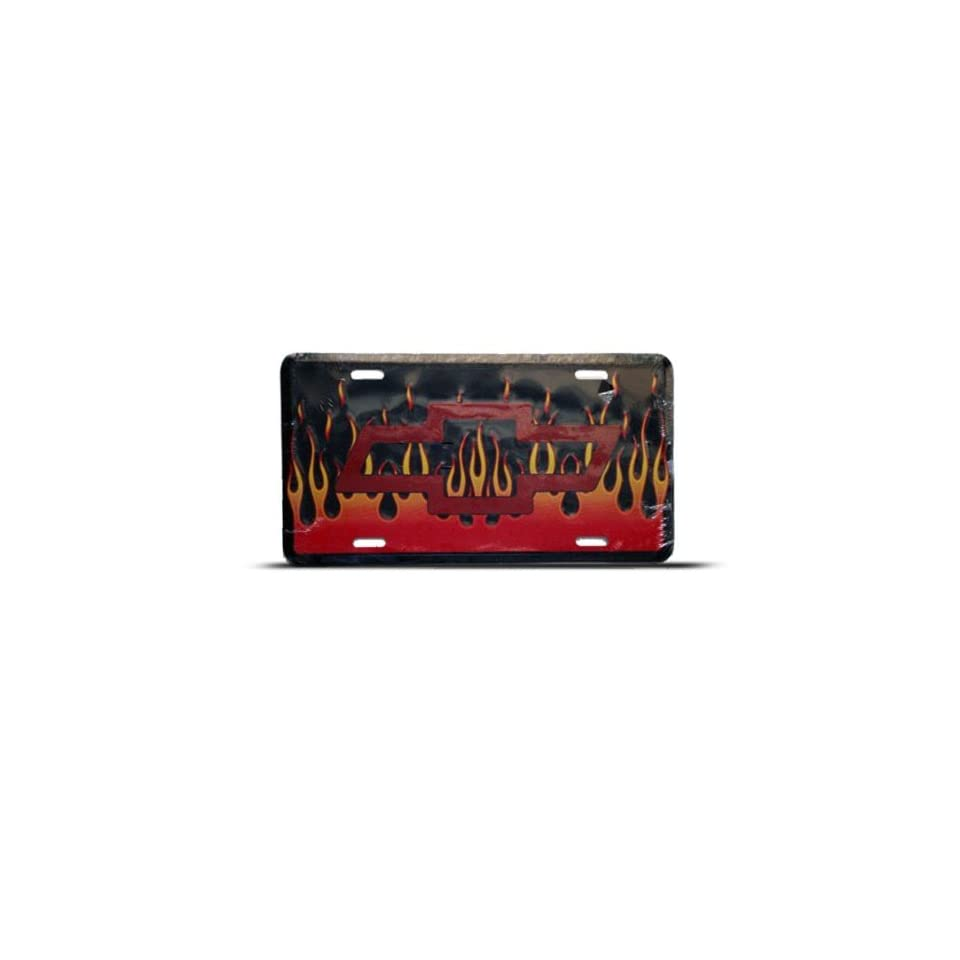 Tie Fire Background Metal Novelty Car Auto License Plate Wall Sign Tag