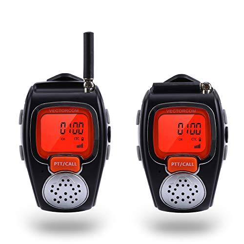 Xuanlur Lightweight Digital Portable Wrist Watch Walkie Talkie Two Way Radio for Outdoor Sport Hiking Shopping. 462MHZ 1Pair(2pcs) (Black) (Wristwatch Two Way Radio)