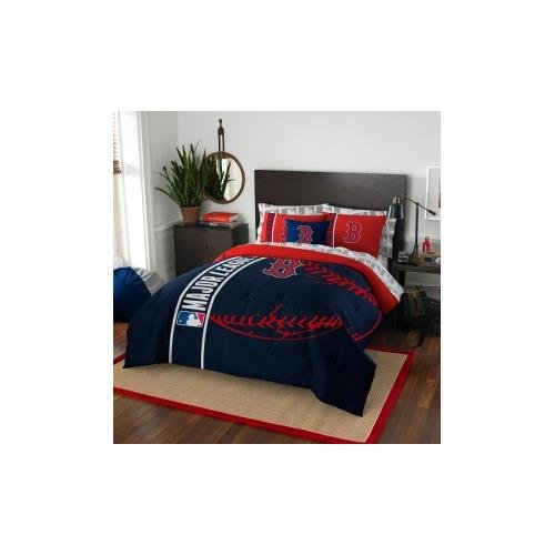 MLB Boston Red Sox Soft U0026 Cozy 7 Piece Full Size Bed In A Bag Set