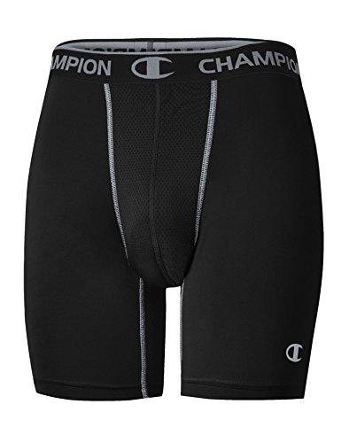 Champion Gear Men`s Power Flex Compression Shorts, 80196T, M, Black/Concrete