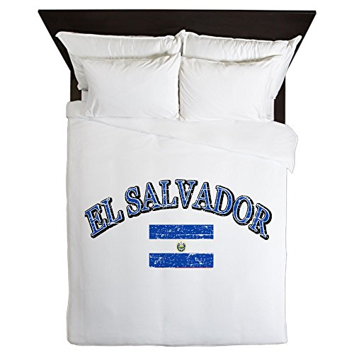CafePress - El Salvador Soccer Designs - Queen Duvet Cover, Printed Comforter Cover, Unique Bedding, Microfiber by CafePress