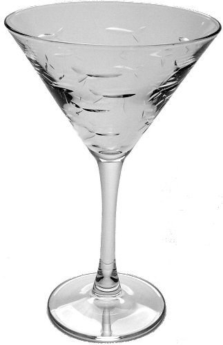 School of Fish Martini Glasses Set of 4 by Rolf Glass Nautical Tropical Imports COMINHKPR18426