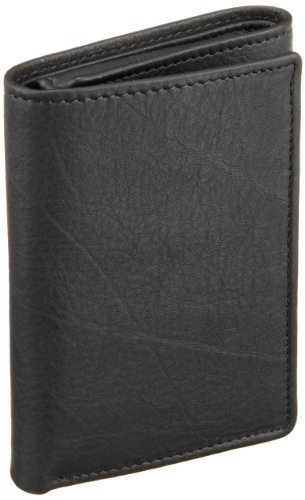 Perry Ellis Men's Park Avenue Trifold Wallet, Black, One Size image