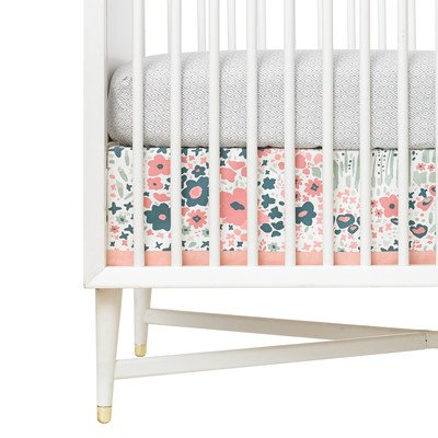DwellStudio Canvas Crib Skirt, Posey