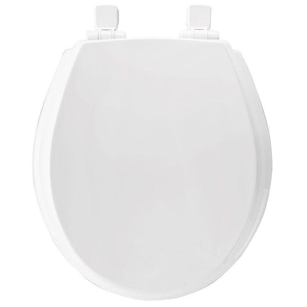 Bemis 570SLOW 000 Slow Close Lift Off Flip Cap Round Closed Front Toilet Seat, White by Bemis B00H1S75QG