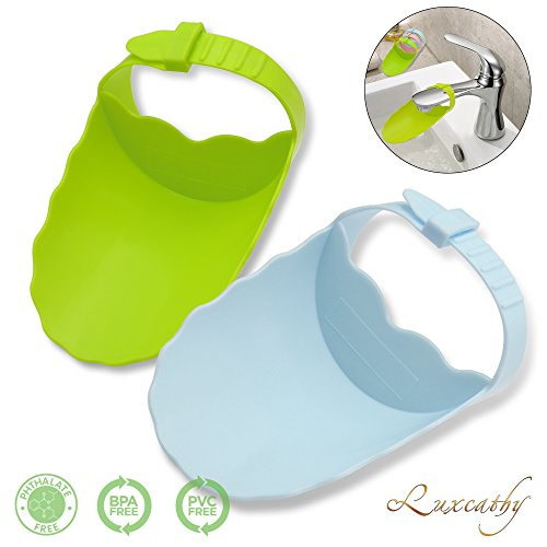 Luxcathy Pack of 2 Safety Adjustable Faucet Extenders for Babies, Toddlers, and Kids - Blue and Green by Luxcathy