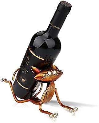 PDXGZ Botelleros de Vino de Metal Gatos Regalos Originales Soporte de Vino Metal, Escultura Práctica Casa Decoración Interior Destacan Vino Crafts: Amazon.es: Deportes y aire libre