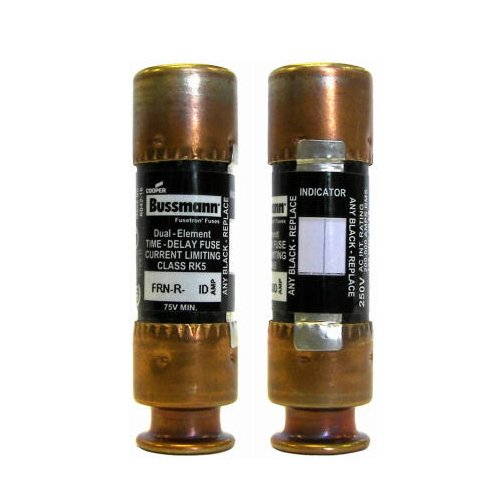 Cooper Bussmann BP/FRN-R-30ID 250-volt   Current Limiting Class RK5 Fuse with Fusetron Dual Element and  Time Delay,  2 Pack