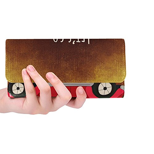 Unique Custom Luggage Time For A Change Courage New Beginning Women Trifold Wallet Long Purse Credit Card Holder Case Handbag