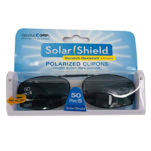 Solar Shield Polarized Clip on Sunglasses full frame size 50 REC 5 by Dioptics by Dioptics Inc