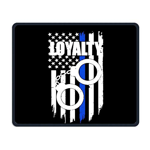 Rubber Handcuff - Thin Blue Line Flag Loyalty Handcuffs Rubber Mouse Mat Non-Slip Mousepads Gaming Mousepad