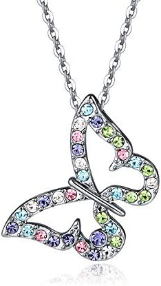 Kiokioa Butterfly Multi Color Crystal Necklace product image