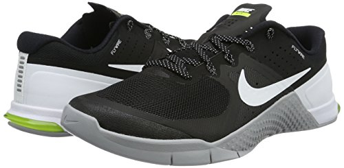 Zapatillas De Entrenamiento Nike Metcon 2 Cross Negro / Blanco / Gris Lobo / Volt