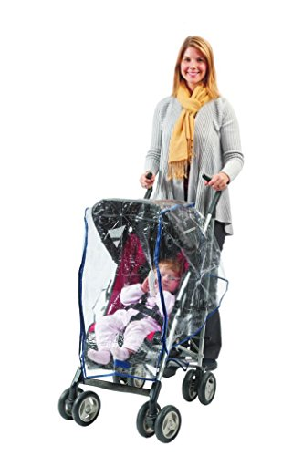 Comfy Baby! Universal Clear Waterproof Rain Cover/Wind Shield for Standard Stroller - with Front Zipper