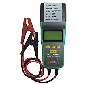 DY2015C Automotive Battery Tester With Printer 12V & 24V Voltage Battery Analyzer For Battery Status, Engine Activtion System, Charging System, Maximum Work Loading