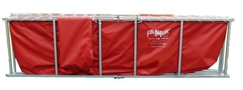 Fol-Da-Tank FDTS-2500-30VNYL-RD Portable Folding Frame Tank Steel 30 oz 123 x 123 x 29 Red Vinyl