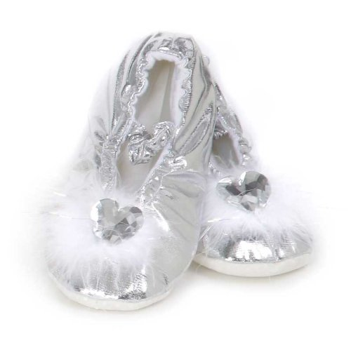 - Creative Education's Silver Princess Slippers Size Small