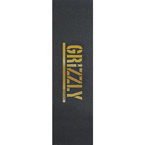 Grizzly Single Sheet Stamp Black/Gold GRIPTAPE by Grizzly Grip Tape