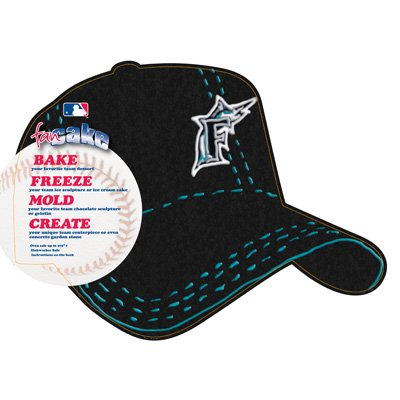 MLB Florida Marlins Fan Cakes Heat Resistant CPET Plastic Cake -