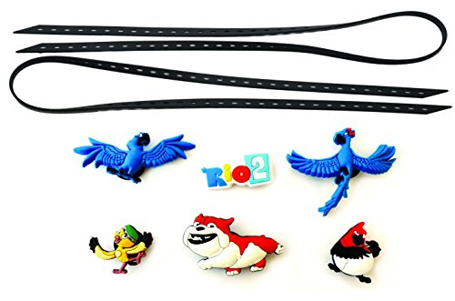AVIRGO Universal Elastic Shoelaces with 6 pcs Buckles Adjustable Size Black Set # 93-10